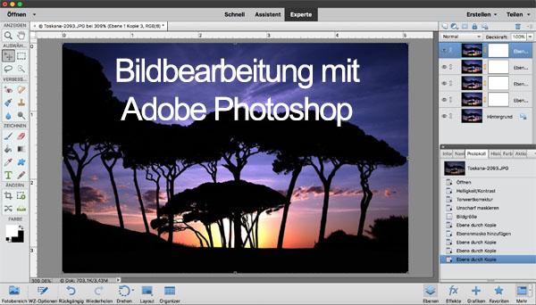 AMESCADA-Fotoschule Fotokurs Einführung in die Bildbearbeitung mit Adobe Photoshop und Adobe Photoshop Elements